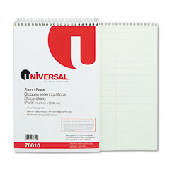 Universal 76610 Steno Book, Pitman Rule, 6 X 9, Green, 60 Sheets/Pad
