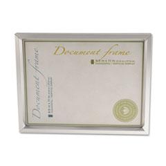 Universal 76853 Plastic Document Frame, For 8 1/2 X 11, Easel Back, Metallic Silver