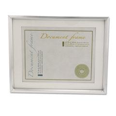 Universal 76854 Plastic Document Frame For 8 1/2 X 11 Insert W/Mat, Metallic Silver