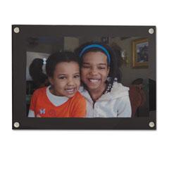 Universal 76855 Acrylic Easel Back Magnetic Frame For 4 X 6 Insert, Black