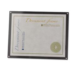 Universal 76856 Acrylic Easel Back Magnetic Frame For 8 1/2 X 11 Insert, Black