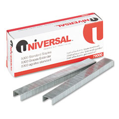 Universal - standard chisel point 210 strip count staples, 5,000/box, sold as 1 bx