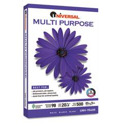 Universal 95400 Multipurpose Paper, 98 Brightness, 20Lb, 8-1/2X14, Bright White, 5000 Shts/Ctn