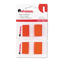 Universal 99001 Page Flags, Red, 2 Dispensers Of 50 Flags/Pack