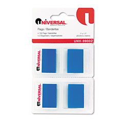 Universal 99002 Page Flags, Blue, 50 Flags/Dispenser, 2 Dispensers/Pack