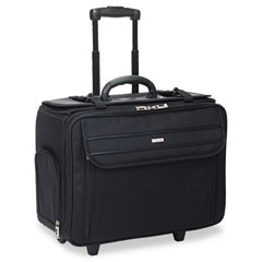 Solo - rolling laptop/catalog case, ballistic poly, 18-3/4 x 9 x 15-1/2, black, sold as 1 ea
