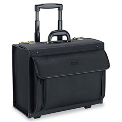 U.S. Luggage PV78-4 Rolling Catalog Case, Polyvinyl, 18-3/4 X 10-1/2 X 14-3/4, Black