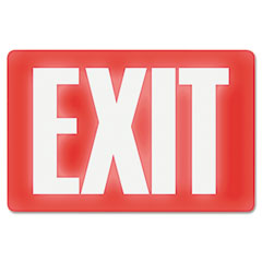 Headline sign - glow in the dark sign, 8 x 12, red glow, exit, sold as 1 ea
