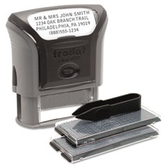 Trodat - self-inking do it yourself message stamp, 3/4 x 1 7/8, sold as 1 ea