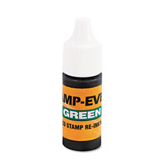 U. s. stamp & sign - refill ink for clik! and universal stamps, 7ml-bottle, green, sold as 1 ea
