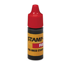 U. s. stamp & sign - refill ink for clik! & universal stamps, 7ml-bottle, red, sold as 1 ea
