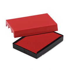 U. s. stamp & sign - trodat t4729 dater replacement pad, 1-9/16 x 2, red, sold as 1 ea