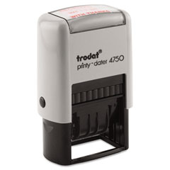 Trodat - trodat economy 5-in-1 stamp, dater, self-inking, 1 5/8 x 1, blue/red, sold as 1 ea