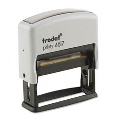 Trodat - trodat economy 12-message stamp, dater, self-inking, 2 x 3/8, black, sold as 1 ea