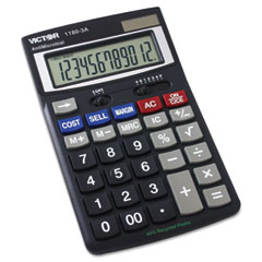 Victor - 1180-3a antimicrobial desktop calculator, 12-digit lcd, sold as 1 ea