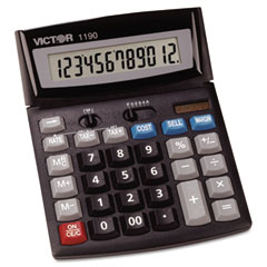 Victor - 1190 executive desktop calculator, 12-digit lcd, sold as 1 ea