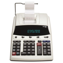 Victor - 1230-4 fluorescent display two-color printing calculator, 12-digit fluorescent, sold as 1 ea