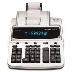 Victor - 1240-3a antimicrobial two-color printing calculator, 12-digit fluorescent, sold as 1 ea