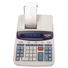 Victor - 2640-2 two-color printing calculator, 12-digit fluorescent, black/red, sold as 1 ea