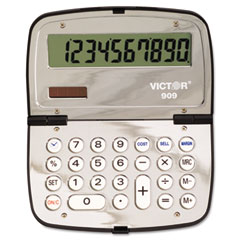 Victor - 909 handheld compact calculator, 10-digit lcd, sold as 1 ea