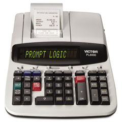 Victor - pl8000 1-color prompt logic printing calculator, 14-digit dot matrix, black, sold as 1 ea