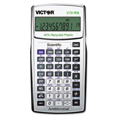 Victor - v30ra scientific recycled calculator w/antimicrobial protection, sold as 1 ea
