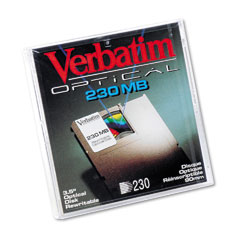 Verbatim VER90545 Magneto Optical Disk, 3.5, 230MB, 512 Bytes/Sector, Rewritable