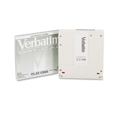 "Verbatim VER92847 Optical Disk, 5.25"" Write Once (WORM), 5.2GB, 2,048 Bytes/Sector"