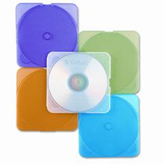Verbatim - trimpak cd/dvd case, assorted colors, 10/pack, sold as 1 pk
