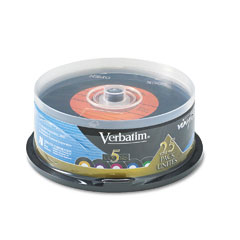 Verbatim - digital vinyl cd-r discs, 700mb/80min, spindle, 25/pack, sold as 1 pk