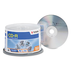 Verbatim - cd-r discs, 700mb/80min, 52x, spindle, silver, 50/pack, sold as 1 pk