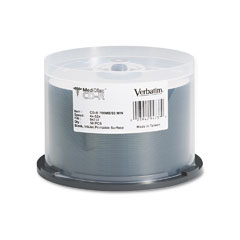 Verbatim - medical grade cd-r discs, 700mb/80min, 52x, spindle, white, 50/pack, sold as 1 pk