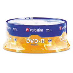 Verbatim - dvd-r discs, 4.7gb, 16x, spindle, matte silver, 25/pack, sold as 1 pk