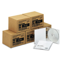 Verbatim 95160 Cd-Rw Discs, 700Mb/80Min, 4X, W/Slim Jewel Cases, Silver, 100/Carton