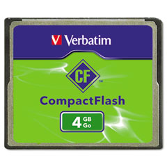 Verbatim - compact flash card, 4gb, sold as 1 ea