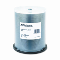 Verbatim 95256 Cd-R, 52X, 700Mb, Inkjet Printable, Silver, 100/Spindle