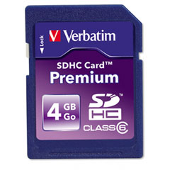 Verbatim - premium sdhc card, 4gb, sold as 1 ea