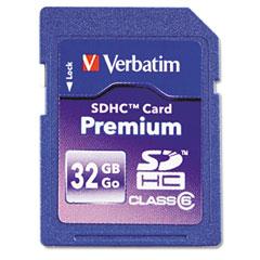 Verbatim - premium sdhc card, 32gb, sold as 1 ea