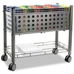 Vertiflex - smartworx file cart, 1-shelf, 28-1/4w x 13-3/4d x 27-3/8h, matte gray, sold as 1 ea