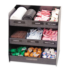 Vertiflex - vertical condiment organizer, 14-1/2w x 11-3/4d x 15h, black, sold as 1 ea