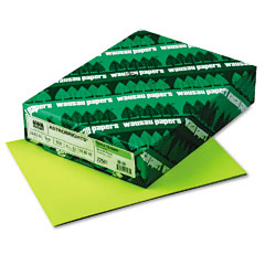 Wausau paper - astrobrights colored paper, 24lb, 8-1/2 x 11, terra green, 500 sheets/ream, sold as 1 rm