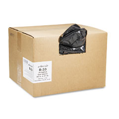 Webster B33 2-Ply Low-Density Can Liners, 16Gal, 0.6Mil, 24 X 31, Black, 500/Carton