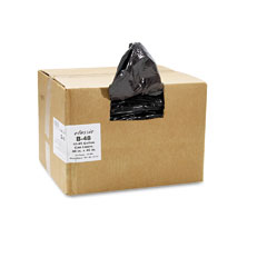 Webster B48 2-Ply Low-Density Can Liners, 40-45Gal, 0.6Mil,40 X 46, Black, 250/Carton
