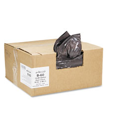 Webster B60 2-Ply Low-Density Can Liners, 55-60Gal, .8 Mil, 38X58 Black, 100/Carton