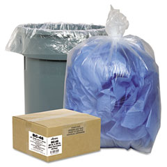 Webster BC-24 Clear Low-Density Can Liners, 7-10 Gal, .6 Mil, 24 X 23, Clear, 500/Carton