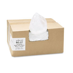 Webster BC-37 Clear Low-Density Can Liners, 30 Gal, .6 Mil, 30 X 36, Clear, 250/Carton