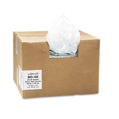 Webster BC-48 Clear Low-Density Can Liners, 40-45 Gal, .6 Mil, 40 X 46, Clear, 250/Carton