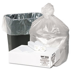 Webster GNT2424 High Density Waste Can Liners, 7-10 Gal, 5 Mic, 24 X 23, Natural, 1000/Carton