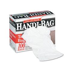 Webster HAB6K100 Super Value Pack Trash Bags, 13 Gallon, .6 Mil, 23-1/2 X 29-3/8, White, 100/Box