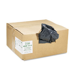 Webster RNW2410 Recycled Can Liners, 7-10 Gal, .65 Mil, 24 X 23, Black, 500/Carton
